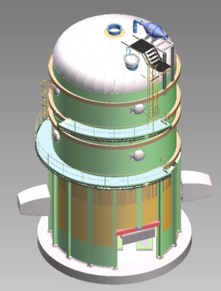Torre de Vacío para proceso Merrill Crowe