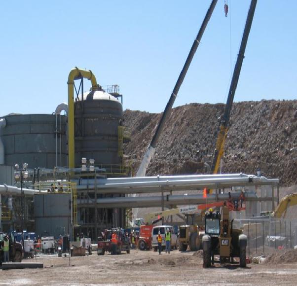 DINCO utilizando el proceso Merrill Crowe con Torre de Vacío para proceso de minería y metalurgía